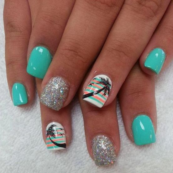40 Beach Themed Nail Art for Summer Ideas 23