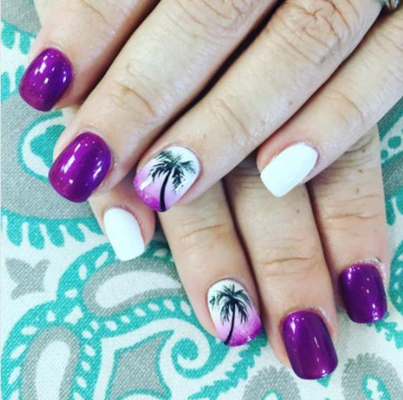 40 Beach Themed Nail Art for Summer Ideas 28