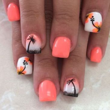 40 Beach Themed Nail Art for Summer Ideas 3