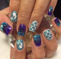40 Beach Themed Nail Art for Summer Ideas 35
