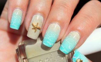 40 Beach Themed Nail Art for Summer Ideas 4