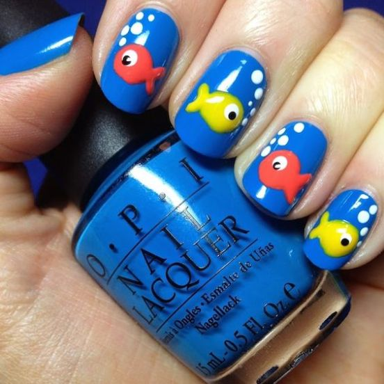 40 Beach Themed Nail Art for Summer Ideas 41