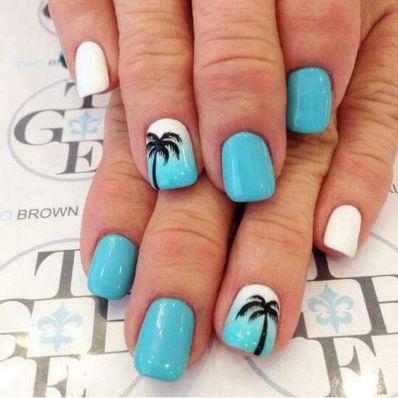 40 Beach Themed Nail Art for Summer Ideas 8