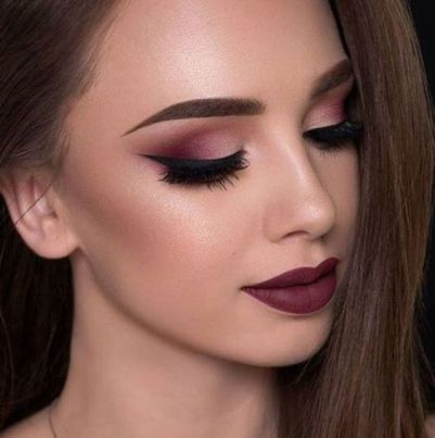 40 Burgundy Makeup Look Ideas 10