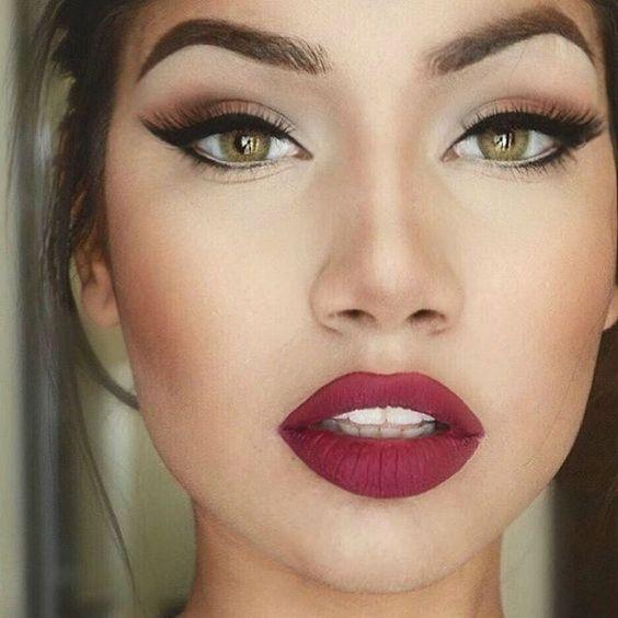 40 Burgundy Makeup Look Ideas 28
