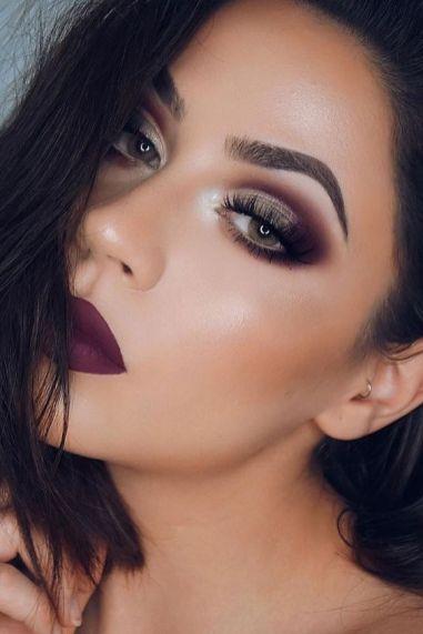40 Burgundy Makeup Look Ideas 29