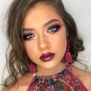 40 Burgundy Makeup Look Ideas 35