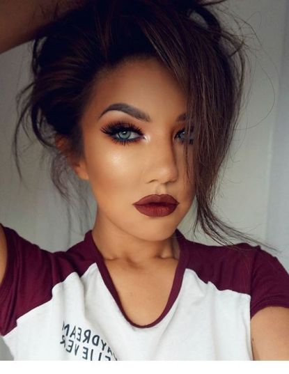 40 Burgundy Makeup Look Ideas 42