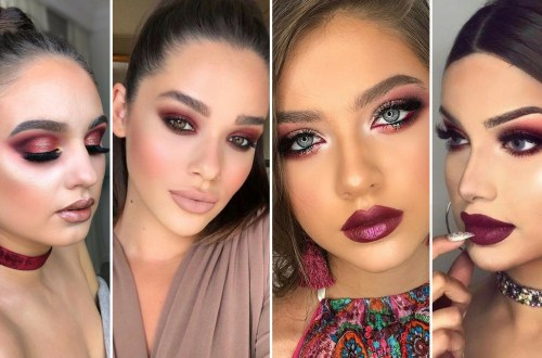 40 Burgundy Makeup Look Ideas