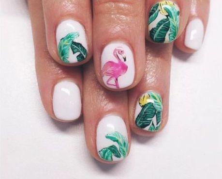 40 Cute Flamingo Themed Nail Art Ideas 40