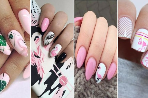 40 Cute Flamingo Themed Nail Art Ideas