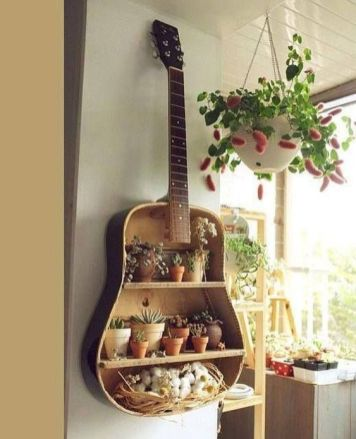 40 DIY Repurpose Old Guitars Ideas 21