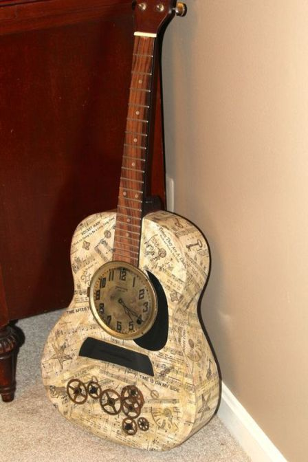 40 DIY Repurpose Old Guitars Ideas 3