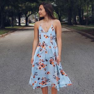 40 Fashionable Floral Print Dresses for Summer Ideas 12