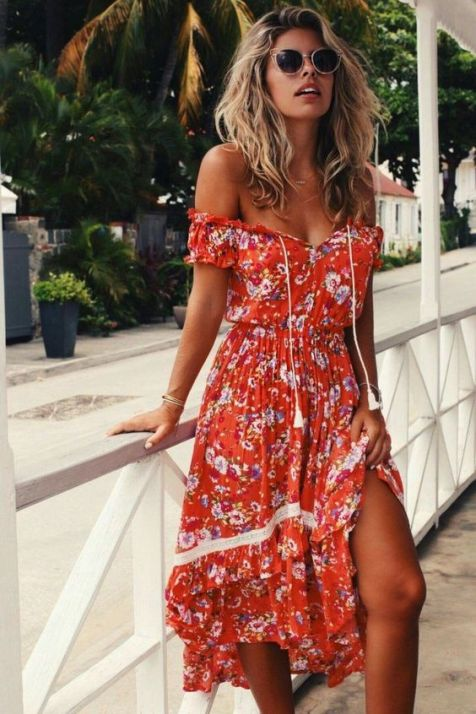 40 Fashionable Floral Print Dresses for Summer Ideas 2