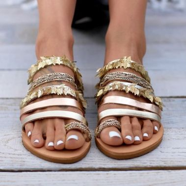 40 Glam Flat Sandals for Summer Ideas 40