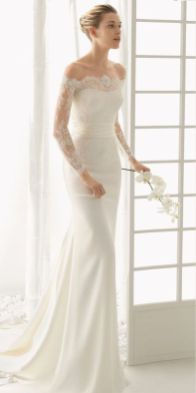 40 Off the Shoulder Wedding Dresses Ideas 11