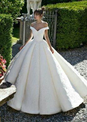 40 Off the Shoulder Wedding Dresses Ideas 12