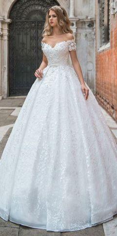 40 Off the Shoulder Wedding Dresses Ideas 18