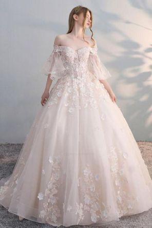 40 Off the Shoulder Wedding Dresses Ideas 23