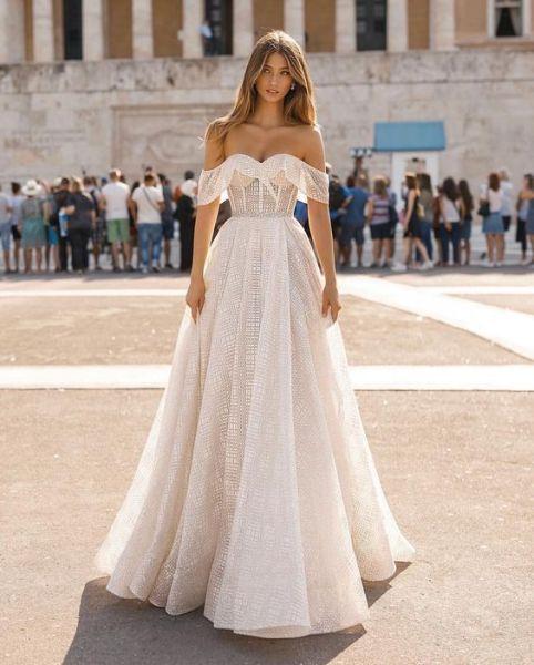 40 Off the Shoulder Wedding Dresses Ideas 24