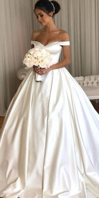 40 Off the Shoulder Wedding Dresses Ideas 25