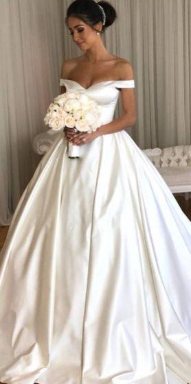 40 Off the Shoulder Wedding Dresses Ideas 25