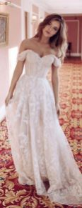 40 Off the Shoulder Wedding Dresses Ideas 26