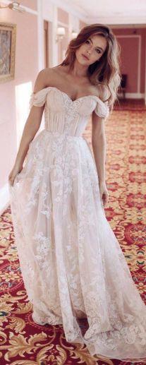 40 Off the Shoulder Wedding Dresses Ideas 26