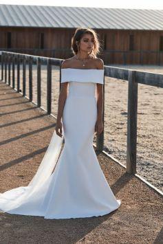 40 Off the Shoulder Wedding Dresses Ideas 28