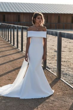 40 Off the Shoulder Wedding Dresses Ideas 28