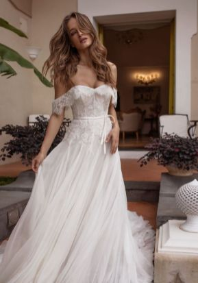 40 Off the Shoulder Wedding Dresses Ideas 30
