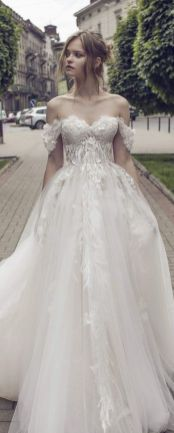 40 Off the Shoulder Wedding Dresses Ideas 32