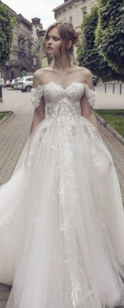 40 Off the Shoulder Wedding Dresses Ideas 32