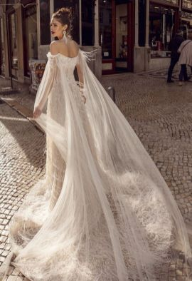 40 Off the Shoulder Wedding Dresses Ideas 36