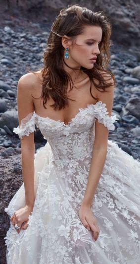 40 Off the Shoulder Wedding Dresses Ideas 37