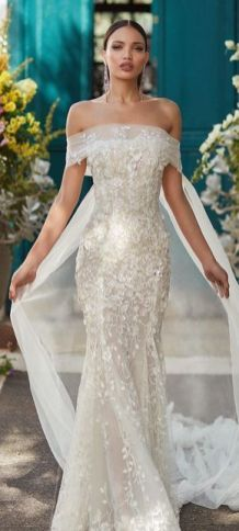 40 Off the Shoulder Wedding Dresses Ideas 38