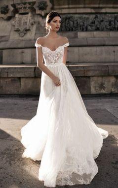 40 Off the Shoulder Wedding Dresses Ideas 39
