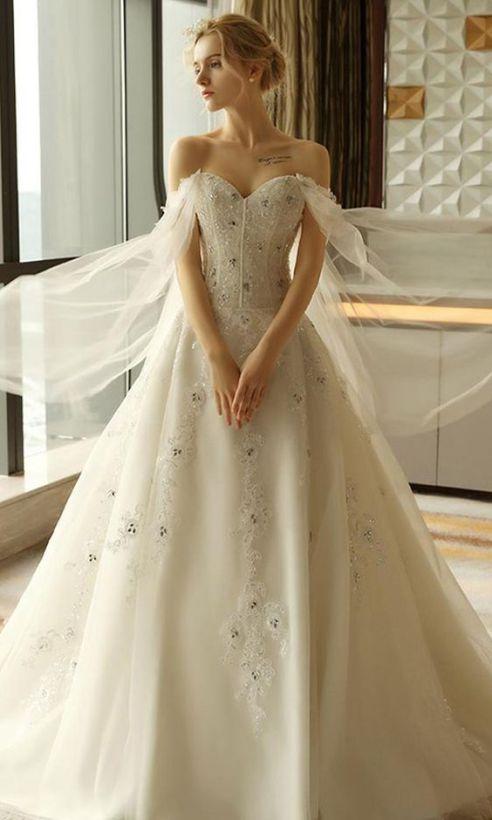 40 Off the Shoulder Wedding Dresses Ideas 40