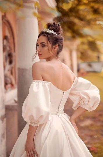 40 Off the Shoulder Wedding Dresses Ideas 43