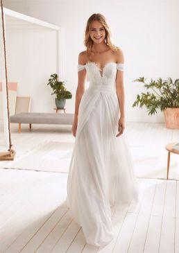 40 Off the Shoulder Wedding Dresses Ideas 44