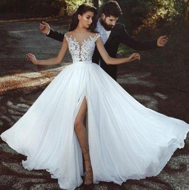 50 Bridal Dresses with Perfect Split Ideas 24 1