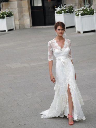 50 Bridal Dresses with Perfect Split Ideas 25