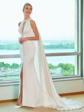 50 Bridal Dresses with Perfect Split Ideas 27 1