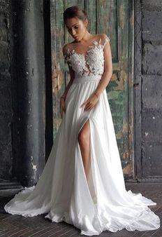 50 Bridal Dresses with Perfect Split Ideas 3