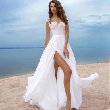 50 Bridal Dresses with Perfect Split Ideas 37