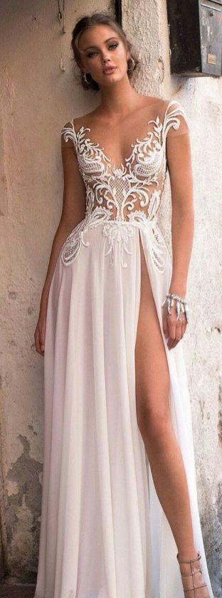50 Bridal Dresses with Perfect Split Ideas 47