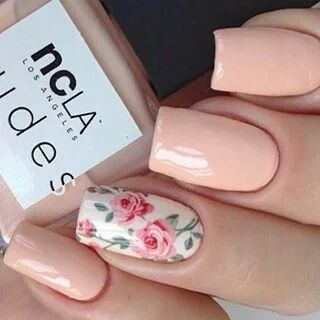 50 Floral Nail Art for Summer and Spring Ideas 17