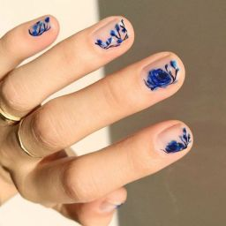 50 Floral Nail Art for Summer and Spring Ideas 18