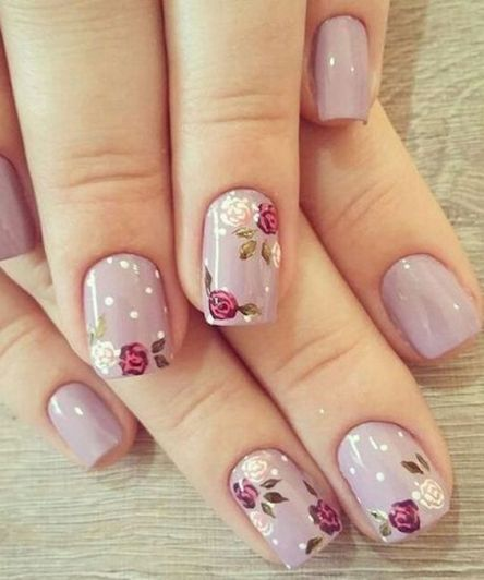 50 Floral Nail Art for Summer and Spring Ideas 32